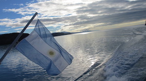 Navigation to the Glaciers of Argentino Lake